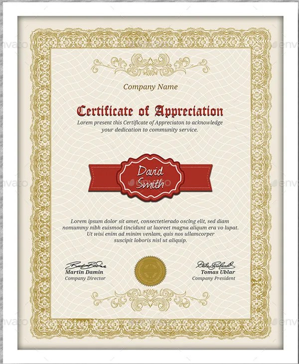 Sample Certificate Of Service Template Massage Services Gift - certificate of appreciation words