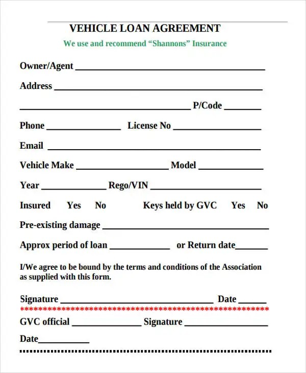 20+ Loan Agreement Formats Free  Premium Templates