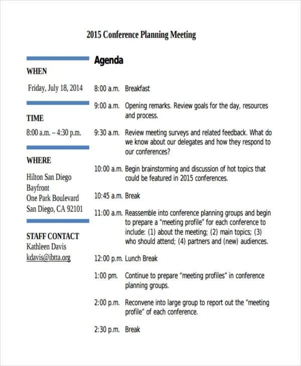 46 Meeting Agenda Templates Free  Premium Templates