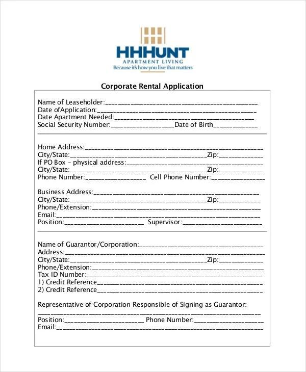 apartment rental applications