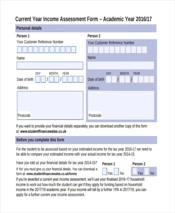 47+ Assessment Form Examples Free  Premium Templates