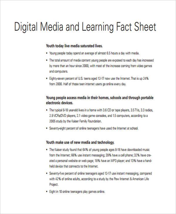 32 Fact Sheet Templates in PDF Free  Premium Templates