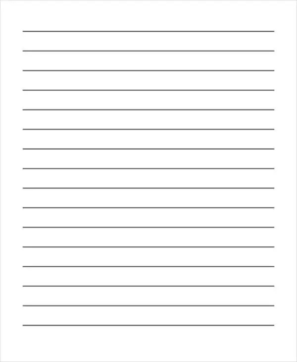 26+ Sample Lined Paper Templates Free  Premium Templates - lined blank paper