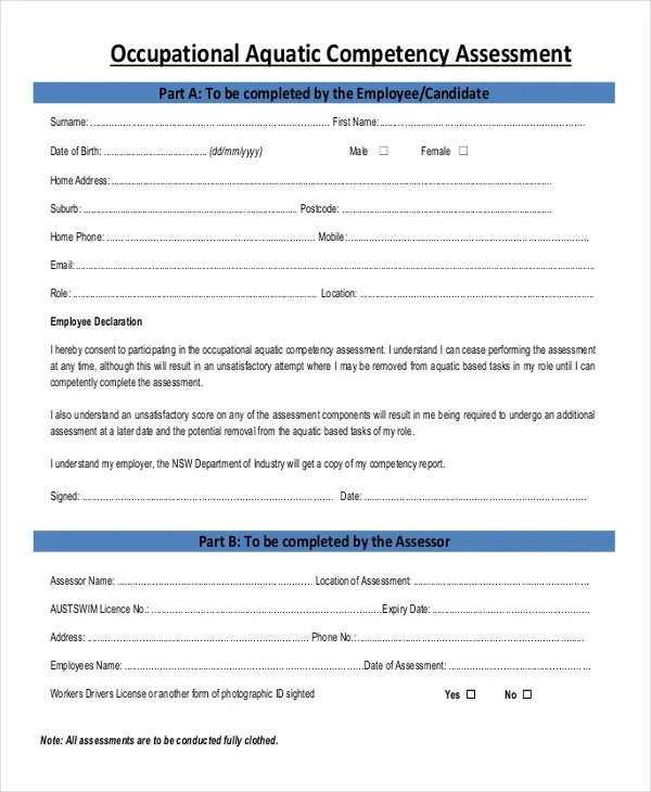 32+ Assessment Forms in PDF Free  Premium Templates