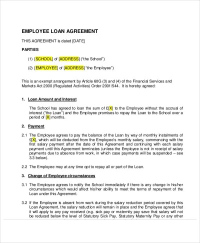 25+ Loan Agreement Templates | Free & Premium Templates