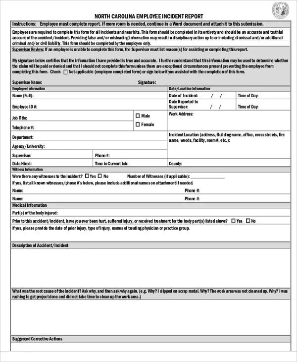 medical office incident report form - Forteeuforic