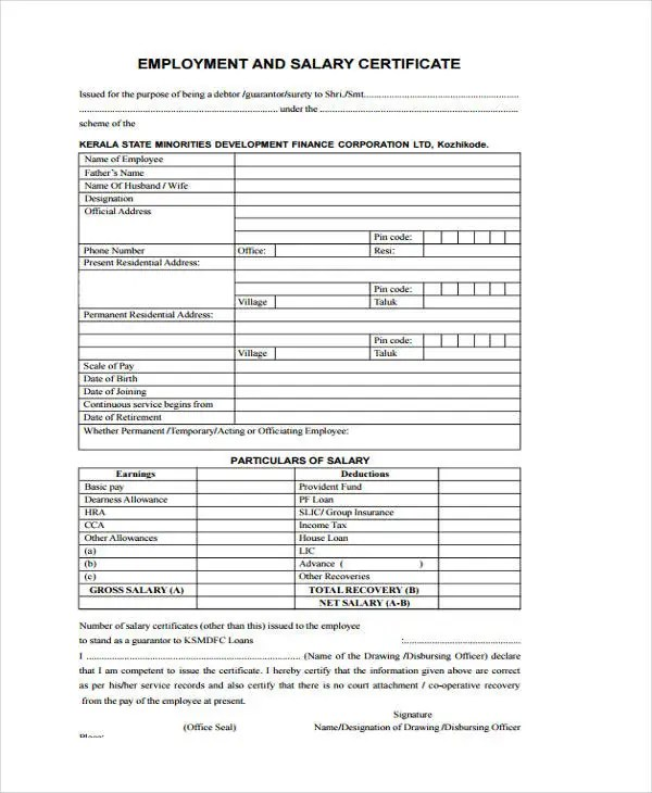 format of salary certificate letter colbroco