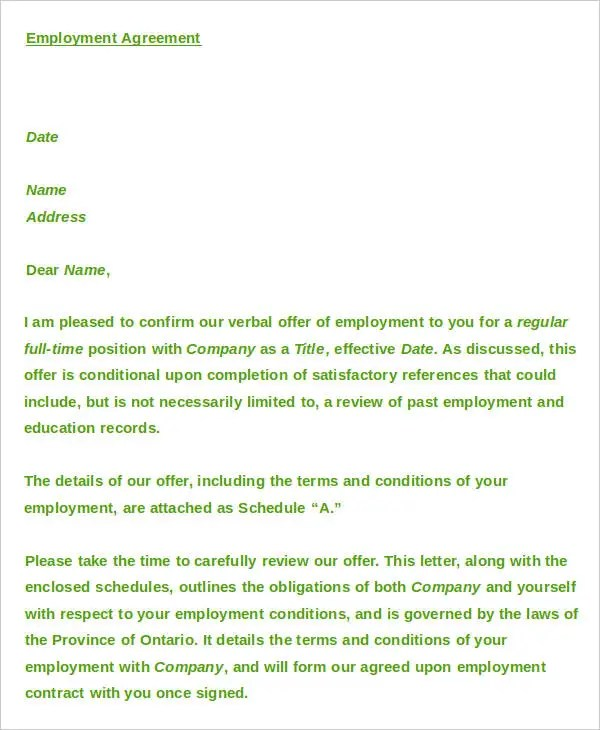 23+Agreement Letter Templates Free  Premium Templates - agreement letters