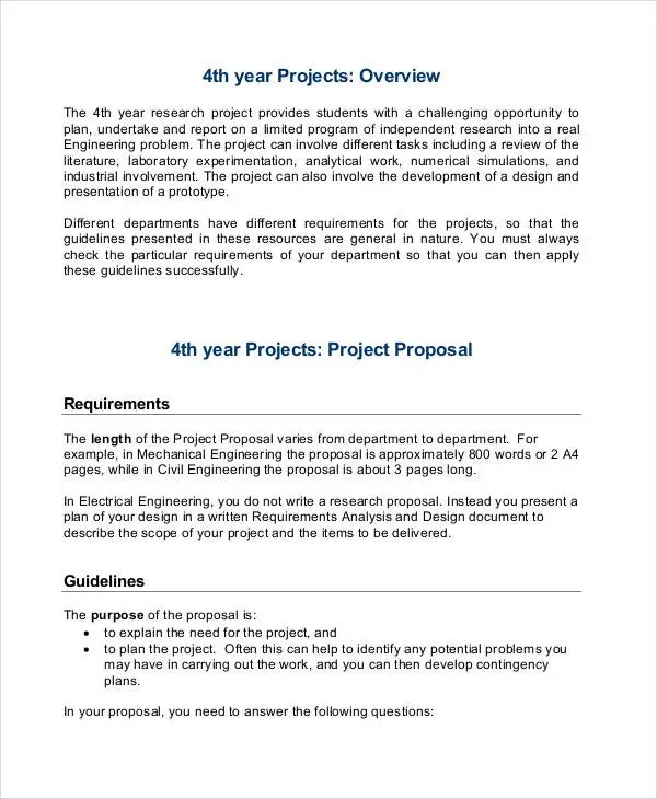 27+ Project Proposal Examples - Word, PDF Free  Premium Templates
