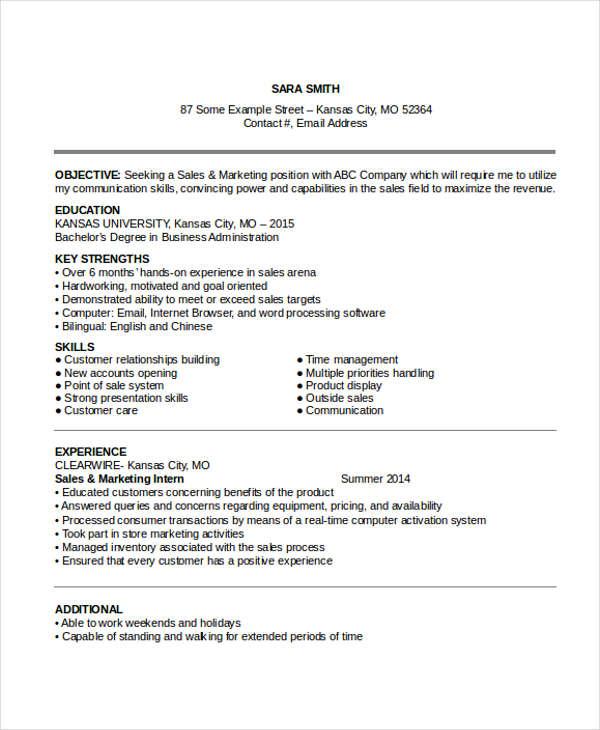 27+ Marketing Resume Templates in PDF Free  Premium Templates