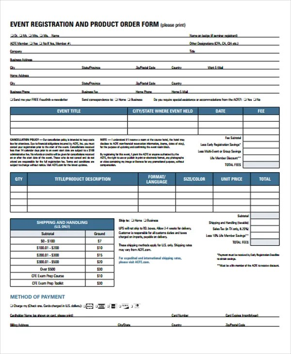 ... Product Order Form Template Nfgaccountability   Basic Order Form  Template ...