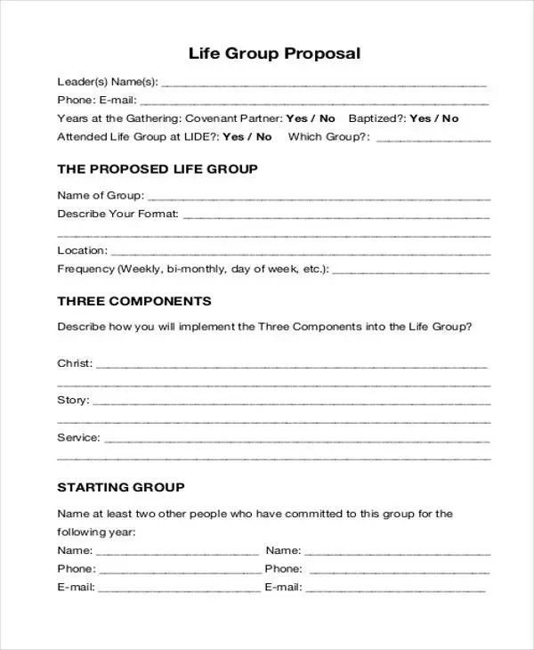 11+ Group Proposal Templates - Free Sample, Example Format Download