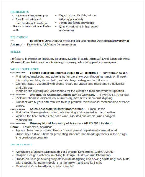 Attractive ... 41+ Best Marketing Resume Free \ Premium Templates   Fashion Marketing  Resume ... With Fashion Marketing Resume