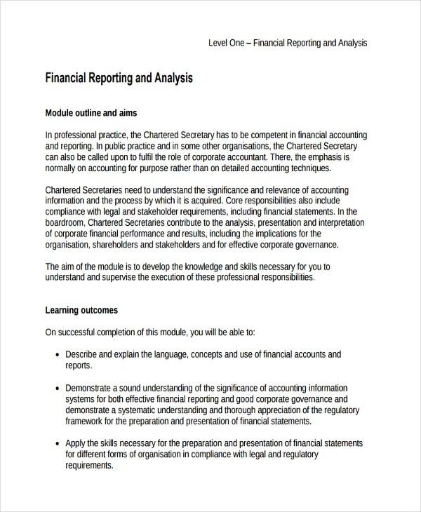 33+ Financial Analysis Samples Free  Premium Templates - performance analysis report