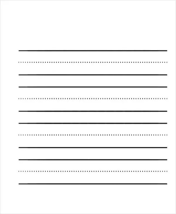 26+ Sample Lined Paper Templates Free  Premium Templates - blank lined paper template