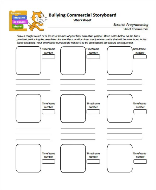17+ Storyboard Templates in PDF Free \ Premium Templates - commercial storyboards