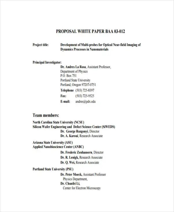 38+ Sample White Paper Templates Free  Premium Templates