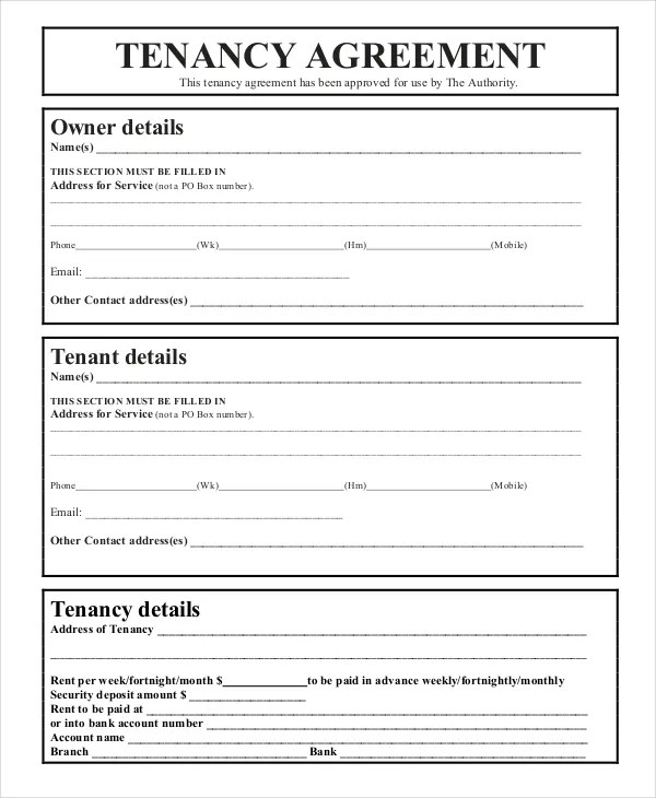 43+ Basic Agreement Forms Free  Premium Templates - rental agreement template