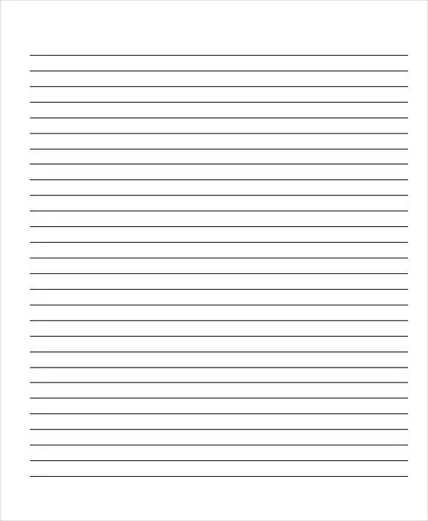 printable wide ruled paper – Wide Ruled Paper Printable