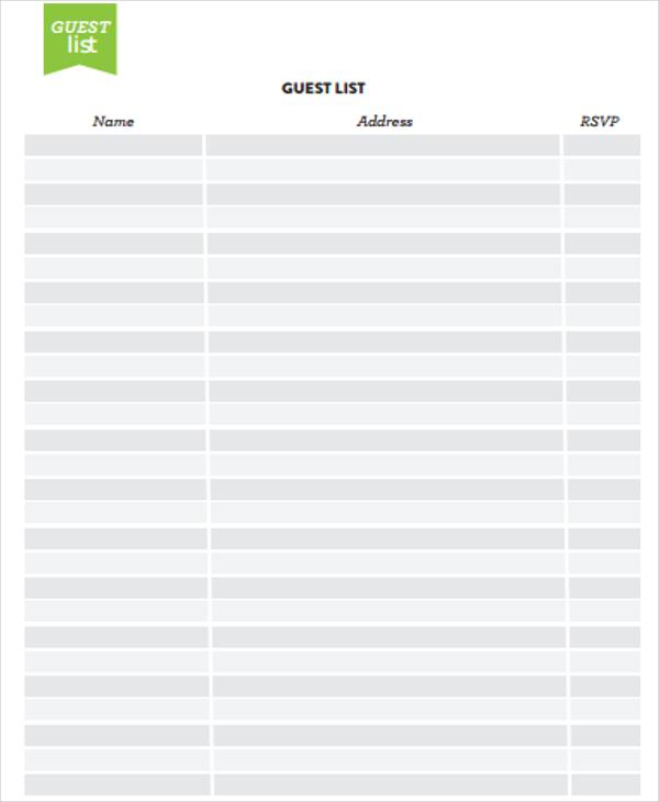 Address List Templates -7+ Free Word, PDF Format Download Free - address list template