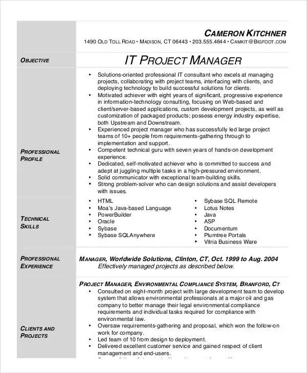 26+ Manager Resume Templates - PDF, DOC Free  Premium Templates