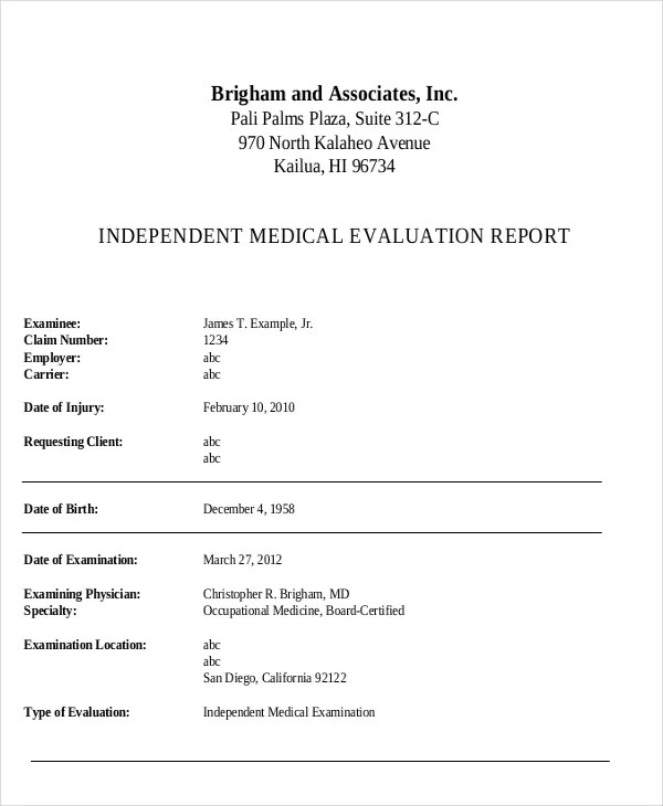 24+ Medical Report Samples Free  Premium Templates