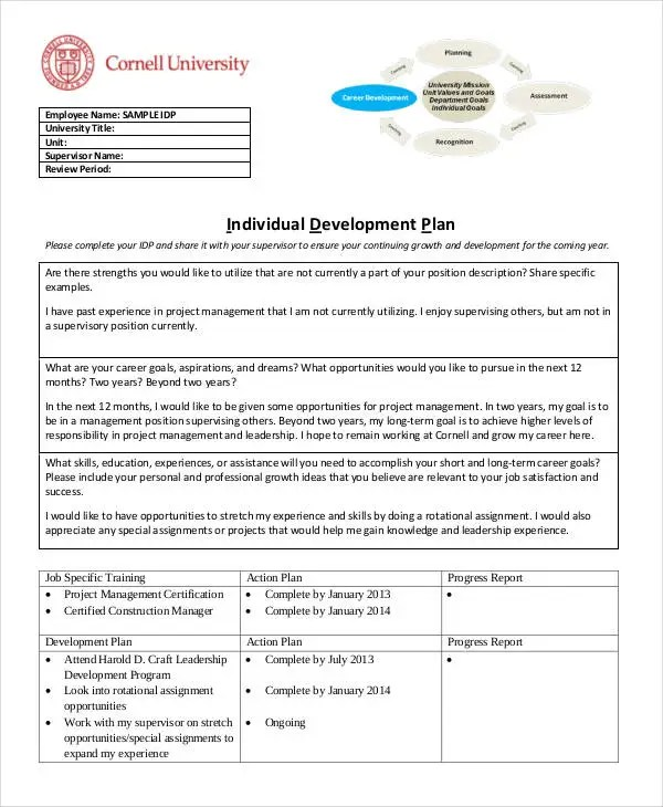 14+ Individual Development Plan Templates -Free Sample, Example