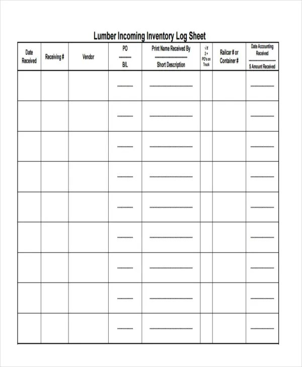 Inventory Sheet Templates - 7 Free Samples, Examples Format Download