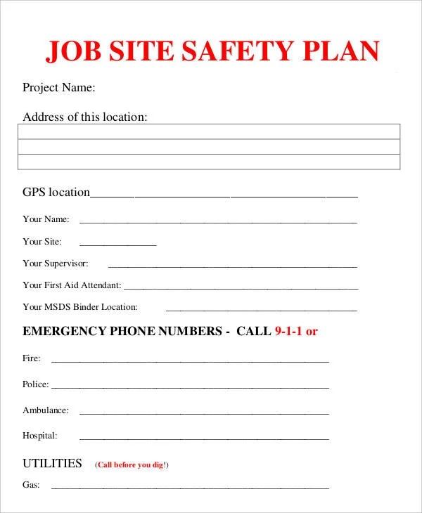 Job Plan Templates - 10 Free Samples, Examples Format Download