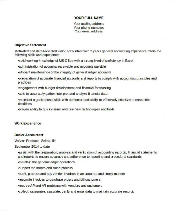 20+ Accountant Resume Templates in PDF Free  Premium Templates
