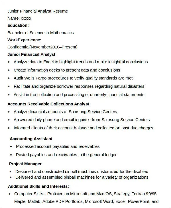 Skills For Financial Analyst Resume financial skills resume