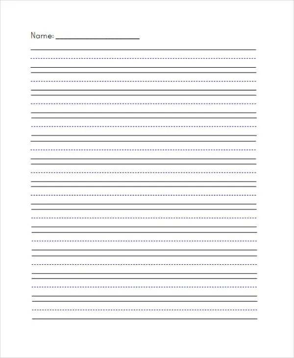 Printable Lined Paper Sample Free Writing Template Free Writing