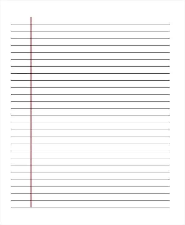 25+ Free Lined Paper Templates Free \ Premium Templates - lined border paper