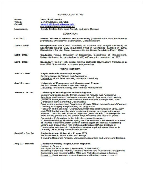resume template mba