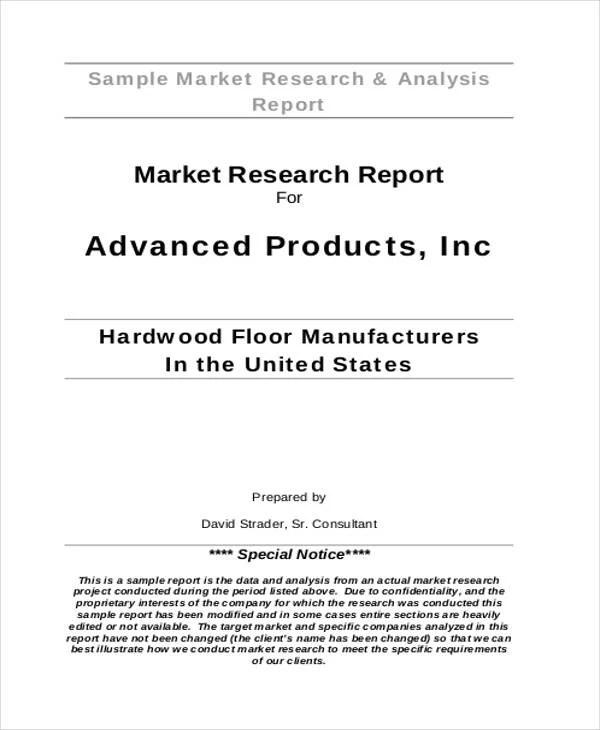 33+ Market Analysis Templates Free  Premium Templates - market analysis report template