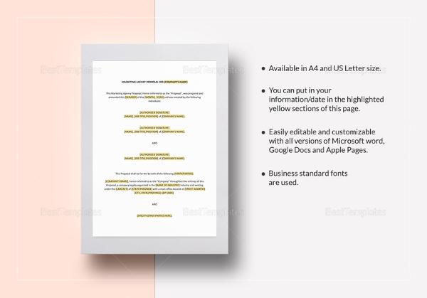 advertising proposal templates 15 free sample example format advertising proposal letter