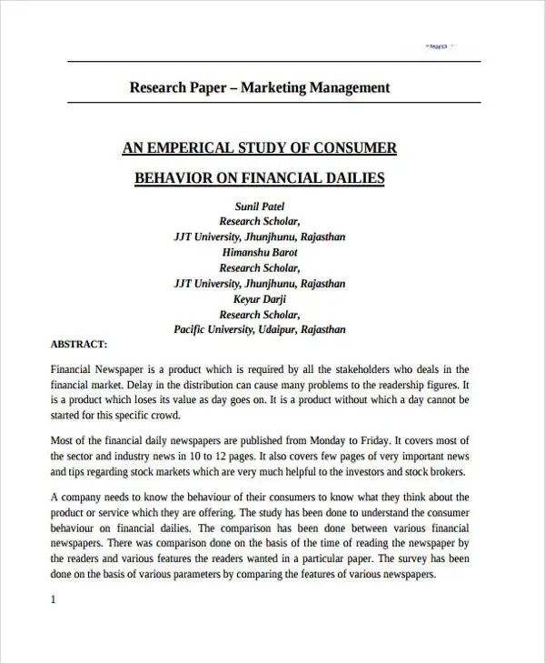 Major Research Instrumentation Program Mri Instrument Research Paper Template Pages Writing The Conclusion Of
