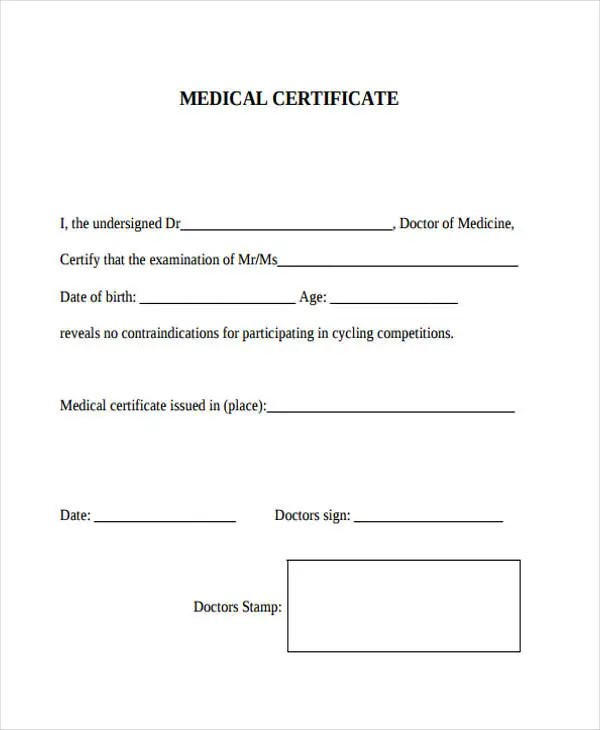 medical certificate sample pdf - Maggilocustdesign