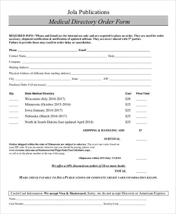 physician order forms templates