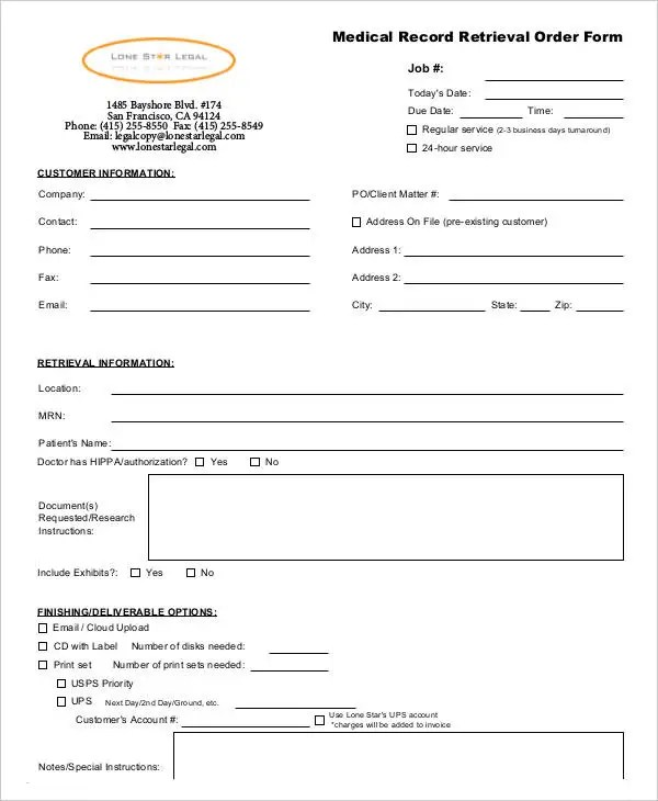 Medical Order Forms - 11+ Free Word, PDF Format Download Free - medical form in pdf