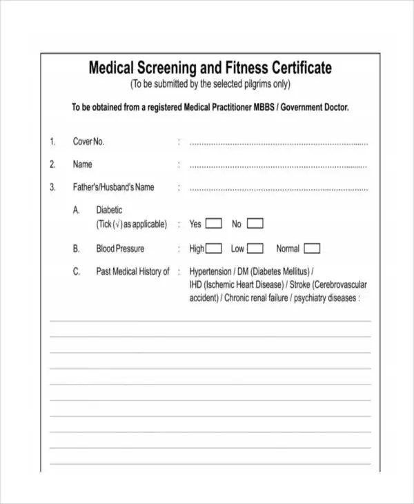 Free Medical Certificate Templates - 28+ Free Word, PDF Documents