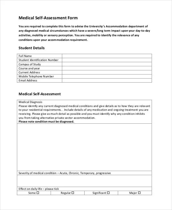 35+ Free Assessment Forms Free  Premium Templates