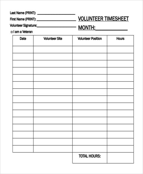 17+ Timesheet Templates - Word, Docs, Excel Free  Premium Templates