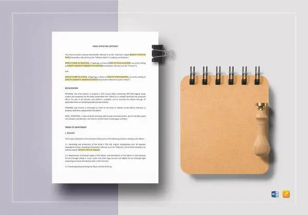 19+ Music Contract Templates - Word, Google Docs Format Download