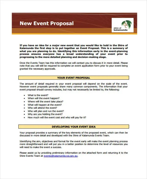 33+ Proposal Formats Free  Premium Templates - How To Write An Event Proposal