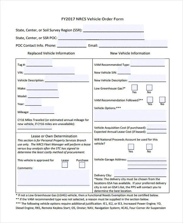 28+ Order Forms in PDF Free  Premium Templates