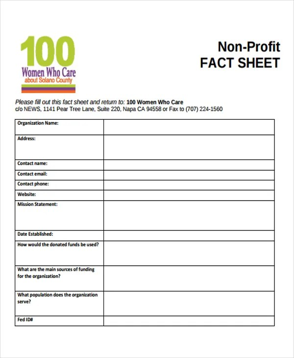 profit sheet template