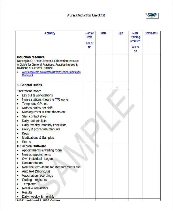 induction checklist template efficiencyexperts - induction checklist template