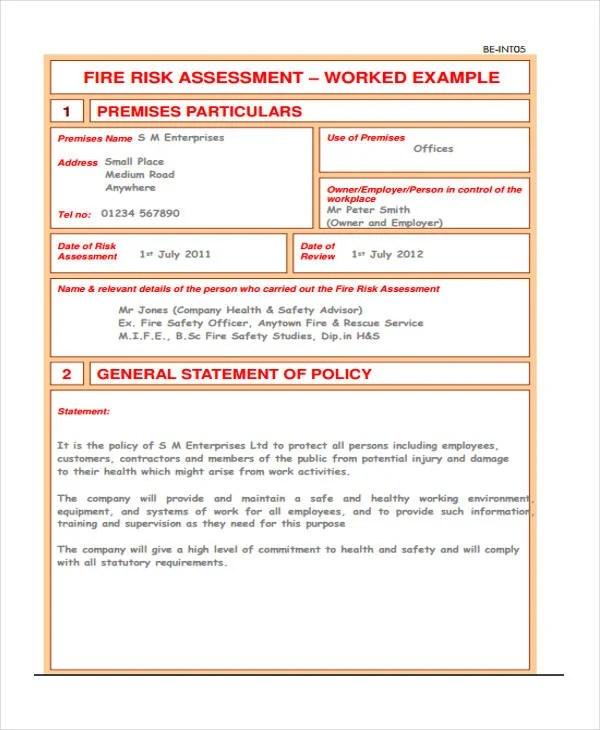31+ Risk Assessment Templates in PDF Free  Premium Templates