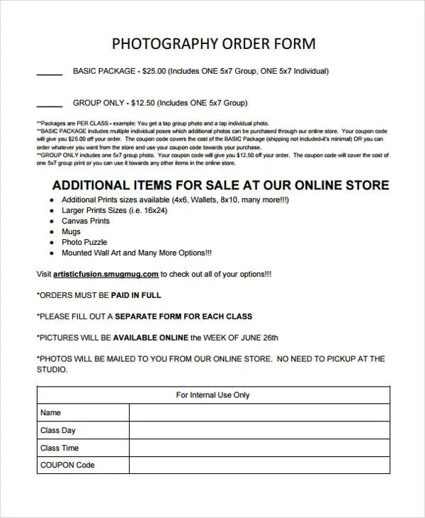 28+ Order Forms in PDF Free \ Premium Templates - appraisal order form
